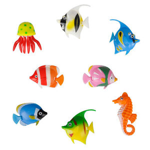 8 Colourful Artificial Plastic Bubble Lamp Aquarium Fish / Jellyfish & Seahorse