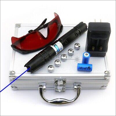 Bq2 Adjustable Focus 450nm Blue Laser Pointer Laser Torch Pen Cigarette Lighter