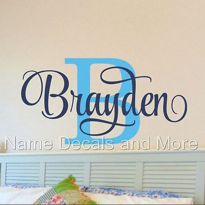 - Boys Name Wall Decal Bedroom Decor Baby Nursery  Removable Vinyl Made in USA