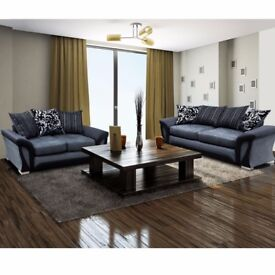 👌SIT ON CHEAP LUXURY👌GET Luxury Shannon Corner Sofa Set/3+2 in brown&beige/black&grey IN JUST 379