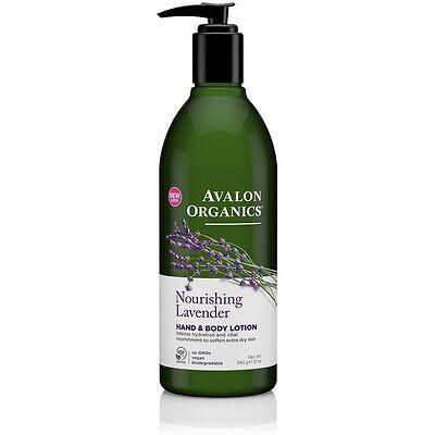 Avalon Organics Nourishing Lavender Hand & Body Lotion, 12 o
