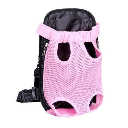Pet Carrier Backpack Adjustable Mesh Front Cat Puppy Dog Travel Bag Leg Out Pink - $7.50