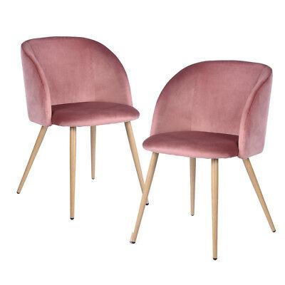 2 STÜCKE Samt Retro Skandinavischen Schlafzimmer Wohnzimmer Akzent Stuhl Stühle - Schlafzimmer Stoff Stuhl