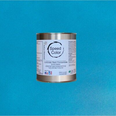 Fast Drying Concrete Paint 24oz Concentrate Yields 1 Gallon Ocean Color