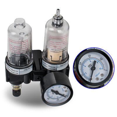 Air Pressure Regulator Oil Water Separator New Trap Filter Tool Us Free Fast