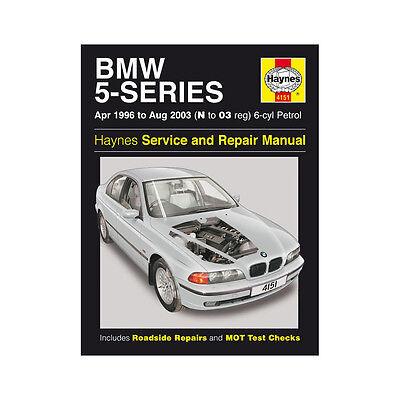 BMW 5 Series 2.0 2.2 2.5 2.8 3.0 6-Cyl Petrol 96-03 (N to 03 Reg) Haynes Manual