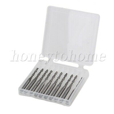 10pcs Cut Spiral Router Bits 3.175mm Shank Cnc End Mill For Wood