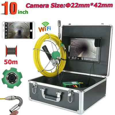 1000 Tvl Camera 22mm 50m Ip68 Pipe Sewer Inspection Video Camera System Wifi