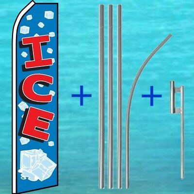 Ice Flutter Flag Pole Mount Kit Tall Advertising Sign Feather Swooper Banner