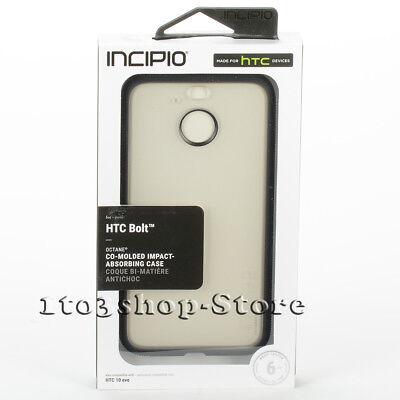 - Incipio Octane Shockproof Hard Shell Case HTC Bolt HTC 10 EVO Frost Clear Black