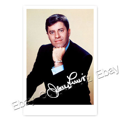 Jerry Lewis - Hollywood Star - Autogrammfotokarte laminiert (AK1)