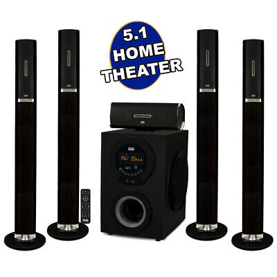 Acoustic Audio AAT3002 Tower 5.1 Bluetooth Home Speaker Syst