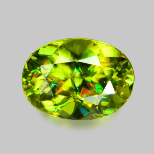1.03cts GLORIOUS LUSTER NATURAL CHARTREUSE GREEN SPHENE VIDEO IN DESCRIPTION