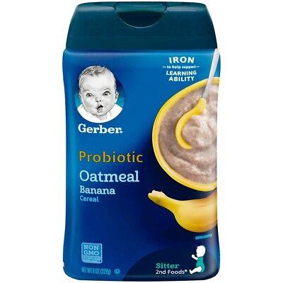 Gerber Baby Probiotic Oatmeal & Banana Cereal