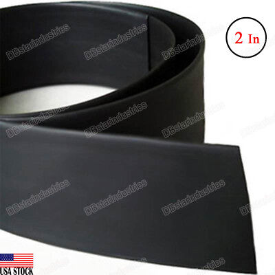 Black Heat Shrink Tubing 2 Inch 50 Mm 21 Ratio Sleeve Wire Wrap 4 Feet
