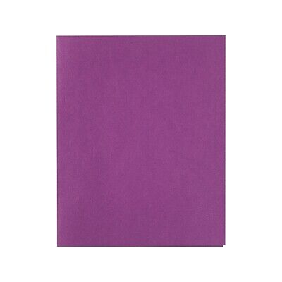 Staples School Grade 2 Pocket Folder With Fasteners Purple 25bx 578551