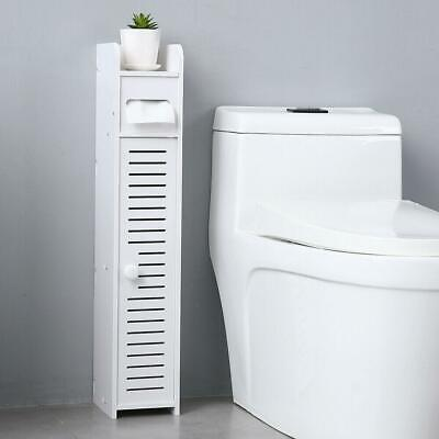 Durable Furniture Bathroom Storage Cupboard Cabinet Organizer Narrow Shelf High