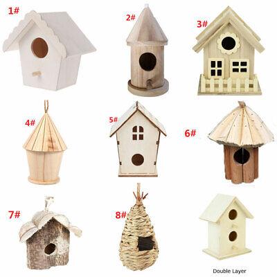 Holz Haus Vogel Holz Vogelhaus Garten Dekoration (Mini-vogel)