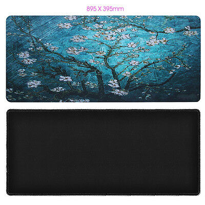 895x395mm Cherry blossoms XL Laptop PC Keyboard Mat Large Wide Gaming Mouse Pad