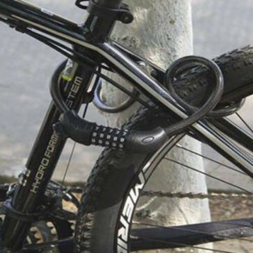 Mountain Bike 5 Digit Password Code Lock Anti-theft Steel Wire Bicycle Safety UK