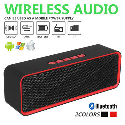 WIRELESS BLUETOOTH SPEAKER HIGH BASS INDOOR OUTDOOR PORTABLE STEREO LOUDSPEAKER