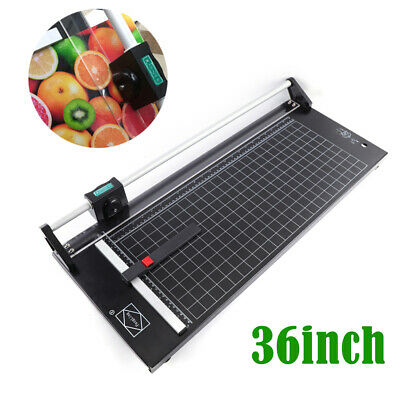 Manual Rotary Paper Trimmer 36 Inch Sharp Photo Paper Rolling Cutter Machine