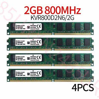 8GB 4x 2GB DDR2 800MHz Kingston PC2-6400U 240Pin CL6 DIMM Desktop Memoria...