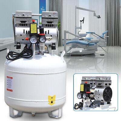40l Portable Dental Air Compressor Oil Free Silent Air Pump Noiseless 8psi 110v