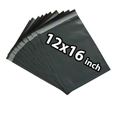 12x16 500X Grey Mailing Bags Strong Poly Postal Postage Post Mail Self Seal UKED