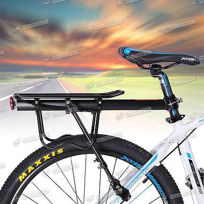MTB Bicycle Cycle Bike Rear Panniers Luggage Rack Carrier Shelf Bracket Black