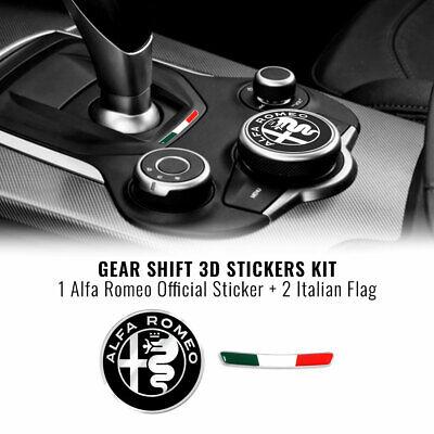 Kit Adesivo Alfa Romeo Logo 51 mm + Bandiera per Interno Giulia...
