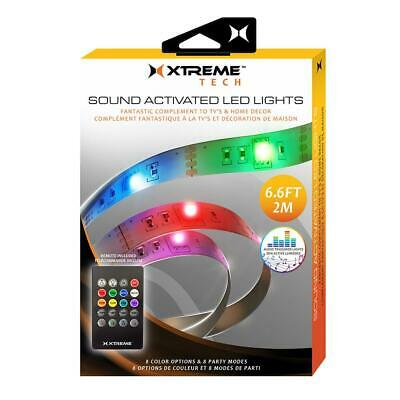 Xtreme XHF7-1024 6.6ft 8-Color Sound Activated LED Lights](Sound Activated Leds)