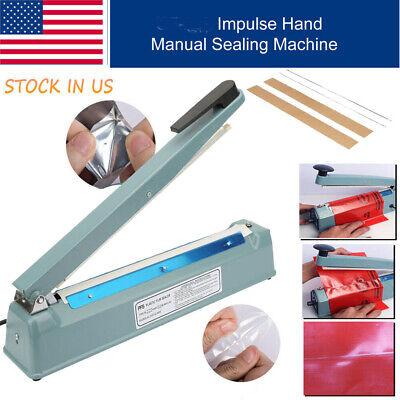12 Heat Sealing Machine Impulse Sealer Seal Machine Poly Tubing Plastic Bag Kit