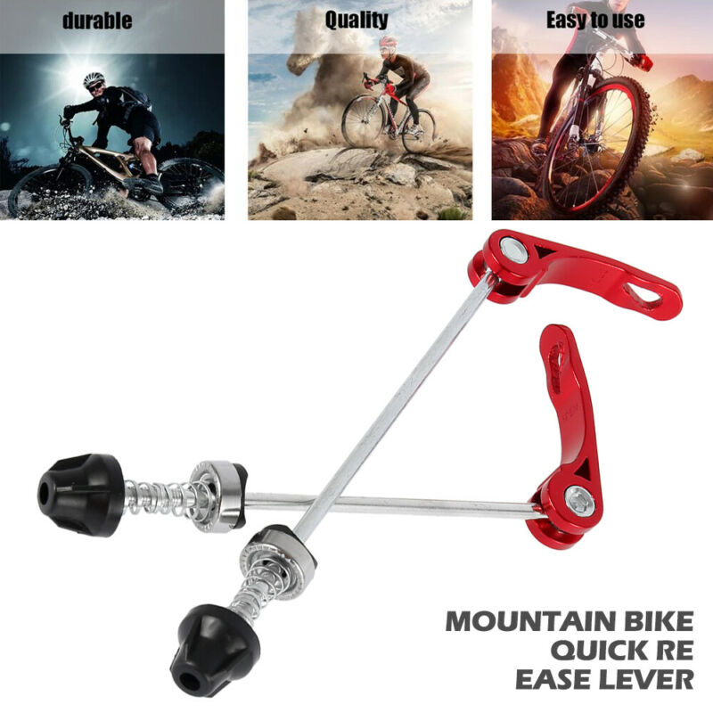 2pcs Mountain Bike Wheel Quick Release Axle Front /& Rear Bicycle Shaft Parts