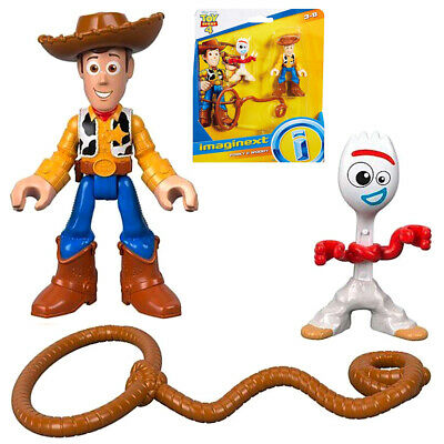 Imaginext Toy Story 4 Movie Figures Forky & Woody Disney Toy Figures NEW