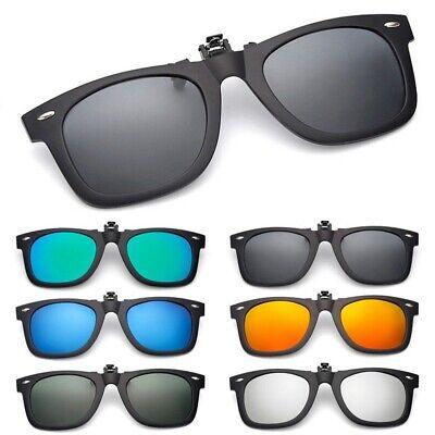 Polarized Flip Up Clip On Sunglasses Black 100% UV Protection Fishing Men (Clip Sunglass)