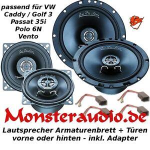 MAGNAT Lautsprecher VW Caddy Golf 3 Passat 35i Polo 6N 3-Wege Boxen Set Tür