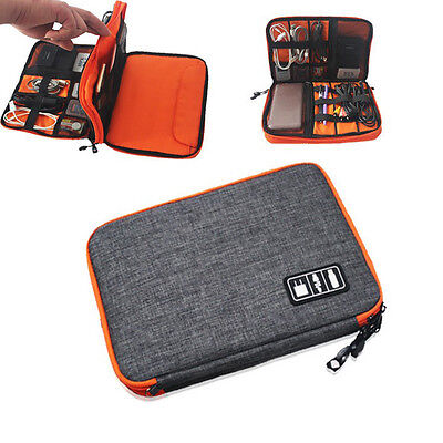 Charging Cable Organizer Bag Electronic Accessories USB Driver Case Double Layer