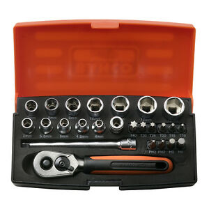 Bahco SL25 Socket Set 25 Pc 1/4