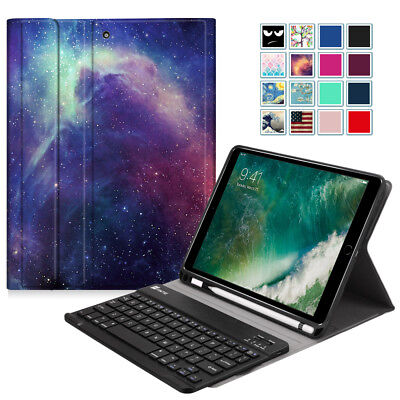 (For iPad 6th Gen 9.7 inch 2018 Tablet Keyboard Case TPU Back with Pencil Holder)