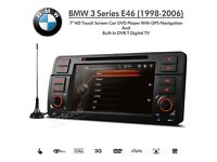"7"" HD Touch Screen Car DVD Player with GPS Navigation Built-in DVB-T Digital TV for E46 BMW 3 Series"