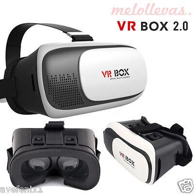 Gafas VR BOX 2.0 3D Realidad Virtual para iPhone Samsung Sony 3,5