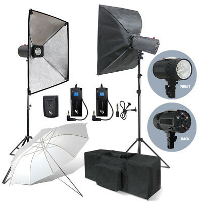 Photography Studio Photo Flash Kit 400W Strobe Light Umbrella Softbox Kit
