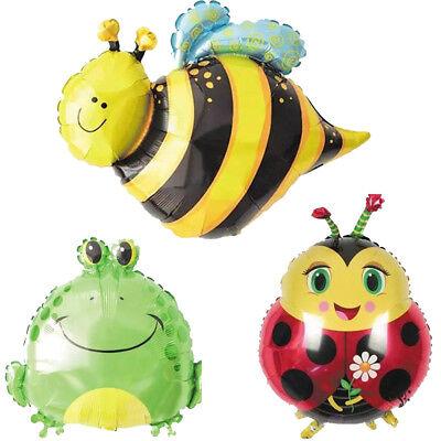 Bee Balloons (Party Supplies Cartoon Frog Ladybird Bee Foil Balloons Animals Zoo Festival)