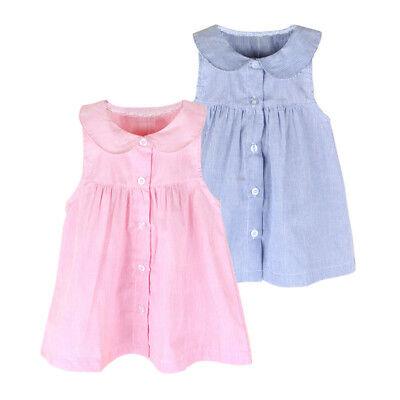 Toddler Infant Kids Baby Girl Dress Clothes Stripe Sleeveless Casual Dresses  (Casual Girl Dresses)