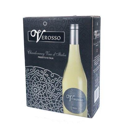 VEROSSO, Chardonnay Italienischer Weißwein 3,0l BiB 12% Vol Bag in Box