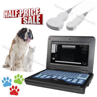 Veterinary Ultrasound Scanner Digital Laptop Vet Ultrasound Machine 2 Probesusa