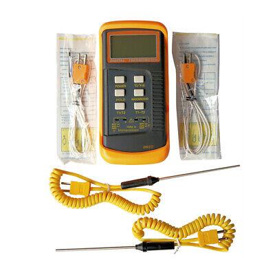 K Type Digital High Temperature Thermometer Pyrometer With Probe Sensor 1300c