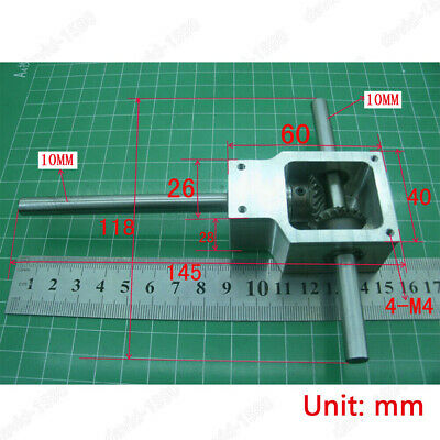 Diy 90 Right Angle Gearbox Speed Reducer Transmission Ratio 11 Shaft 10mm
