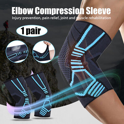 Elbow Compression Sleeve Basket Volleyball Tennis Brace Support For Women Men
